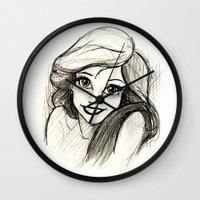 ariel Wall Clocks featuring Ariel by Herself