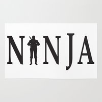 ninja Area & Throw Rugs featuring NiNJA by chanchan