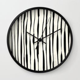 Retro Stripe Reverse Wall Clock