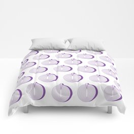 Pattern Purple Onion Comforters