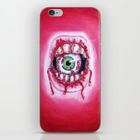 mouth iPhone & iPod Skins featuring Mouth by Tufty Cookie
