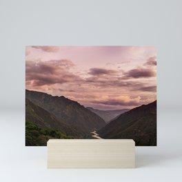 Canyon Santander River Nature Scenic Landscape Mini Art Print