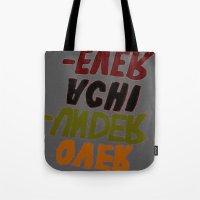 u2 Tote Bags featuring o-u2 by gasponce