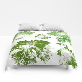 Green leaves stamp Comforters