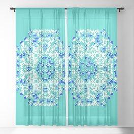 "CA Fantasy ""For Tiffany color"" series #1 Sheer Curtain"