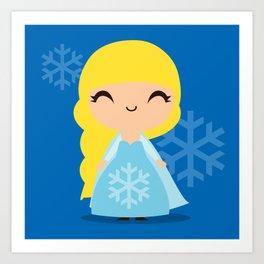 Frozen Cute Princess Elsa Art Print
