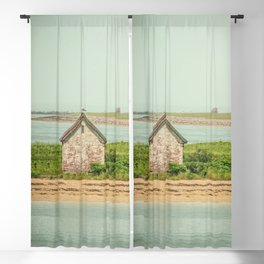 Little Beach House with Seagull Atop Blackout Curtain