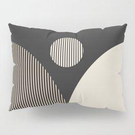 Abstraction_SUN_BOHEMIAN_BLACK_LINE_POP_ART_M100A Pillow Sham