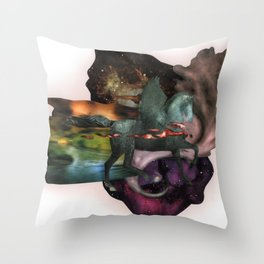 Cosmic Dust | Collage Throw Pillow