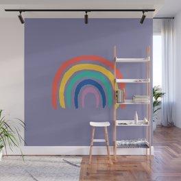 Minimal Rainbow On Lavender Wall Mural