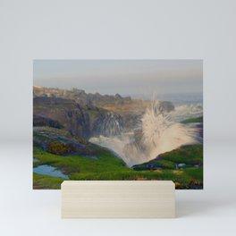 Waves Crashing in Yachats Mini Art Print