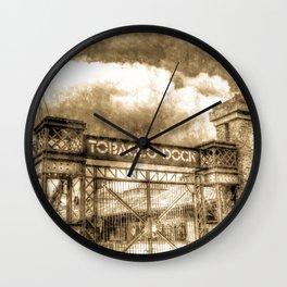Tobbaco Dock London Vintage Wall Clock
