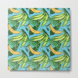 Plantain Paradise Pattern - For true plantain fans Metal Print