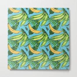 Plantain Paradise Pattern - For true plantain fans Metal Print