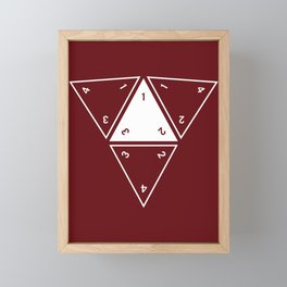 Red Unrolled D4 Framed Mini Art Print