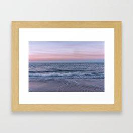 Pastel beach sunset Framed Art Print