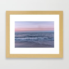 Pastel beach sunset Framed Art Print