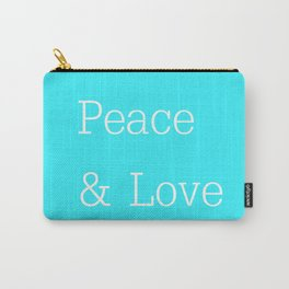 Peace & Love Aqua Carry-All Pouch