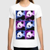 pandas T-shirts featuring Pandas by SwanniePhotoArt