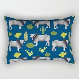 Brahman Cattle cactus southwest farm farming homestead animals Rectangular Pillow