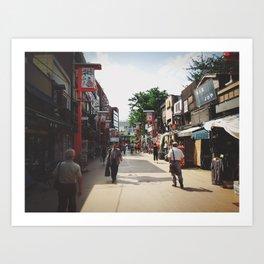 Walking Art Print