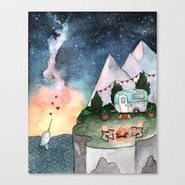 Night Camper Canvas Print