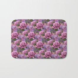 Peach & Purple Roses Bath Mat