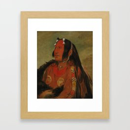 George Catlin - Wi-jún-jon, Pigeon's Egg Head (The Light) Framed Art Print