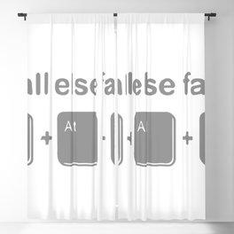 If All Else Fails, Ctrl Alt Delete Blackout Curtain