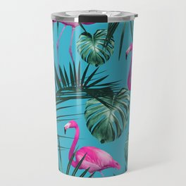 Tropical Flamingo Pattern #4 #tropical #decor #art #society6 Travel Mug