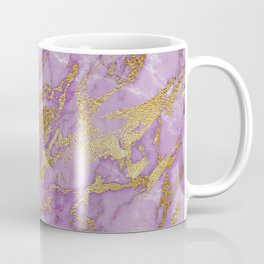 Gold Glitter and Ultra Violet Marble Agate Coffee Mug
