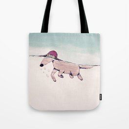 Swimming Pooch Tote Bag