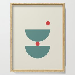 Red Dot Bowls Serving Tray