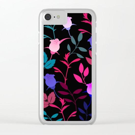 Flower Pattern XVI Clear iPhone Case