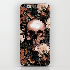 SKULL AND FLOWERS II iPhone & iPod Skin