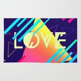 LOVE (80's Style) Rug