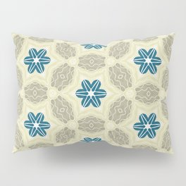 Cornwall beige khaki and ink blue pattern Pillow Sham