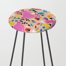 Pink Bunny Counter Stool