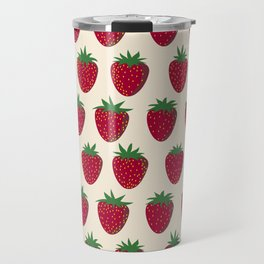 Strawberries and Cream Travel Mug