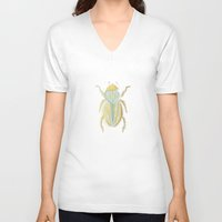 beetle V-neck T-shirts featuring Beetle by Very Sarie