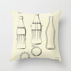Coca Cola Bottle-1937 Throw Pillow