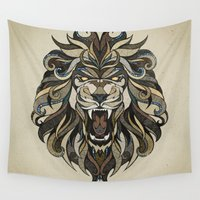 lion Wall Tapestries featuring Lion by Andreas Preis
