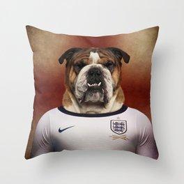 Worldcup 2014 : England - English Bulldog Throw Pillow