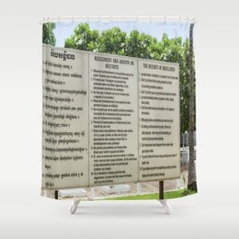S21 Rules - Khmer Rouge, Cambodia Shower Curtain
