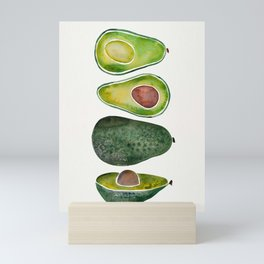 Avocado Slices Mini Art Print