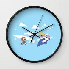 Mario's Adventure Time Wall Clock