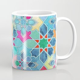 Pretty Pastel Moroccan Tile Mosaic Pattern Coffee Mug