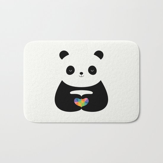 Panda Love Bath Mat