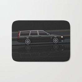 Volvo 850R 855R T5 'Swedish Turbo Wagon' Black Speed Stripes Bath Mat