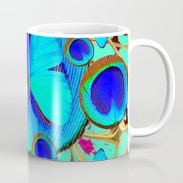 Royal Blue Eyes & Butterfly Dreams Abstract  Pattern Art Coffee Mug